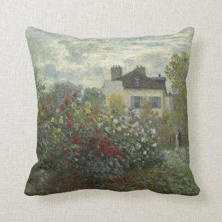Jardín de Claude Monet en Argenteuil Cojín