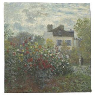 Jardín de Claude Monet en Argenteuil Servilleta
