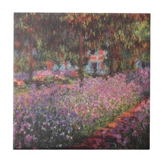 Jardín de Claude Monet //en Giverny Azulejo Cuadrado Pequeño