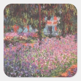 Jardín de Claude Monet //en Giverny Pegatina Cuadradas Personalizada