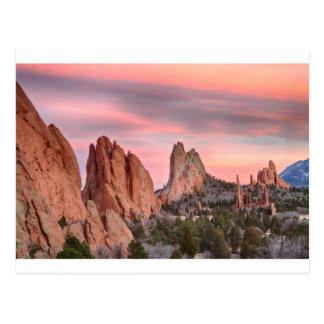 Jardín de Colorado de la opinión de la puesta del Tarjetas Postales