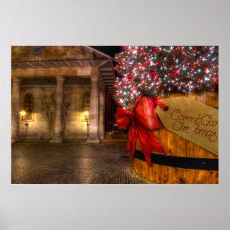 Jardín de Covent en el navidad, Londres Impresiones
