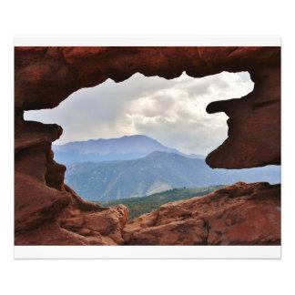 Jardín de dios con vistas al pico de Pike Fotografías
