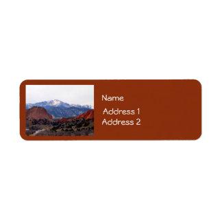 Jardín de dioses (Colorado) Etiqueta De Remite