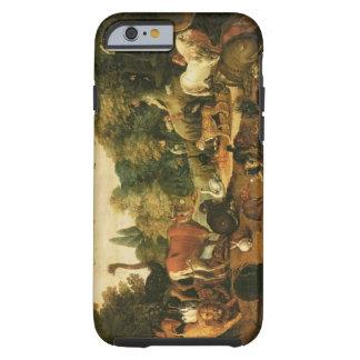 Jardín de Eden (aceite en lona) Funda De iPhone 6 Tough