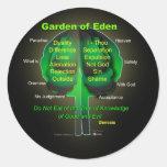 Jardín de Eden Etiqueta Redonda