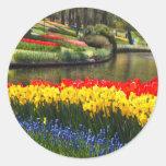 Jardín de Europa Etiquetas Redondas