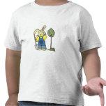 Jardín de excavación del conejo camisetas