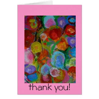 Jardín de flores 2 tarjeta de felicitación