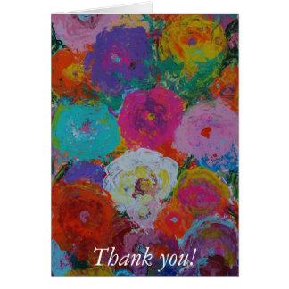 Jardín de flores 3 tarjeta de felicitación