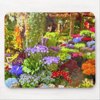 Jardín de flores alfombrillas de ratón