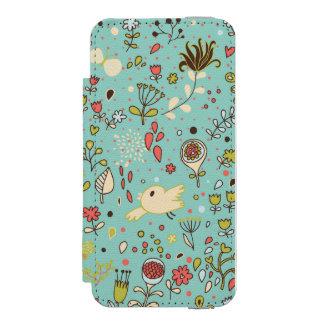 Jardín de flores caprichoso funda cartera para iPhone 5 watson
