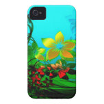jardín de flores Case-Mate iPhone 4 carcasas