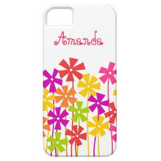 Jardín de flores colorido lindo iPhone 5 carcasas