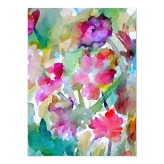 """Jardín de flores de CricketDiane Invitación 5.5"""" X 7.5"""""""