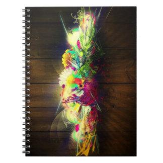 Jardín de flores de Digitaces Cuaderno