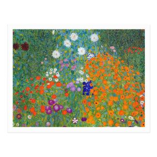 Jardín de flores de Gustavo Klimt Postales
