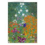 Jardín de flores de Gustavo Klimt Tarjeton