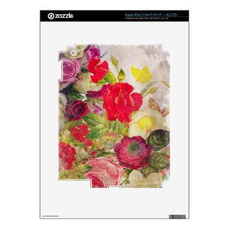 Jardín de flores de la acuarela iPad 3 skin