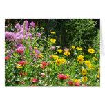 Jardín de flores de la condolencia tarjeta pequeña