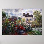 Jardín de flores de la dalia por el poster de Mone