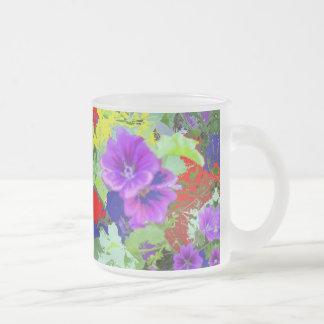 jardín de flores de la mañana tazas