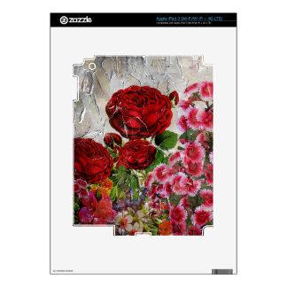 Jardín de flores de los rosas rojos iPad 3 pegatinas skins