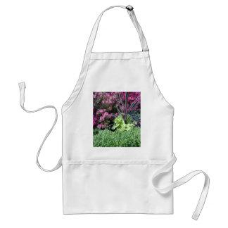 Jardín de flores delantal