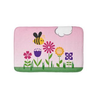 Jardín de flores feliz de la abeja