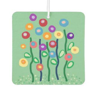 Jardín de flores fresco