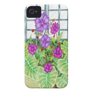 Jardín de flores funda para iPhone 4