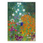 Jardín de flores, Gustavo Klimt Felicitacion