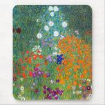 Jardín de flores, Gustavo Klimt Alfombrilla De Ratón