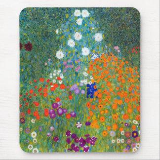 Jardín de flores, Gustavo Klimt Alfombrillas De Raton
