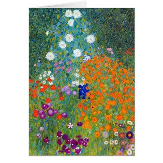 Jardín de flores, Gustavo Klimt Tarjeta De Felicitación