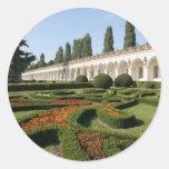 Jardín de flores, Kroměříž - República Checa Etiquetas Redondas