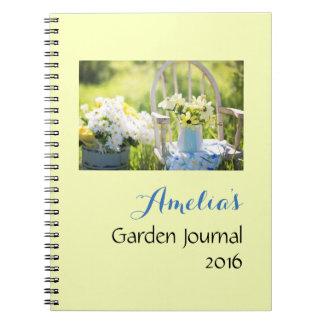 Jardín de flores nostálgico note book