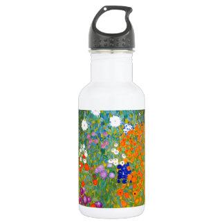 Jardín de flores por el vintage de Gustavo Klimt