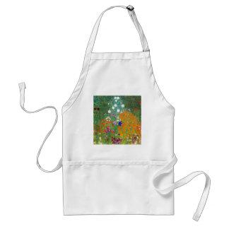 Jardín de flores por el vintage de Gustavo Klimt Delantal