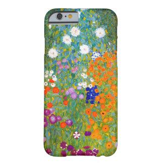 Jardín de flores por el vintage de Gustavo Klimt Funda De iPhone 6 Barely There