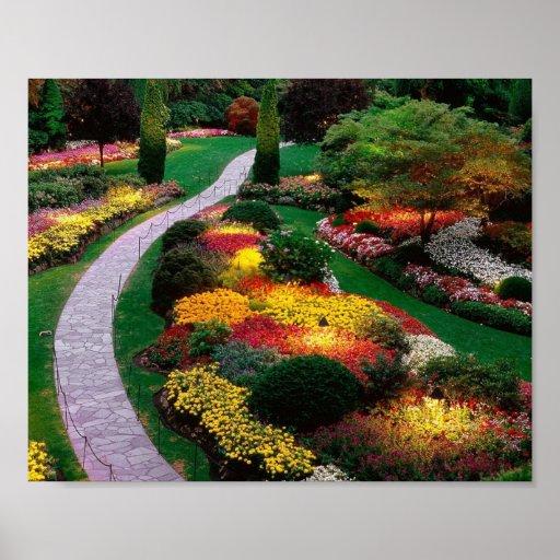 Jardín de flores posters