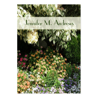 jardín de flores tarjeta de visita