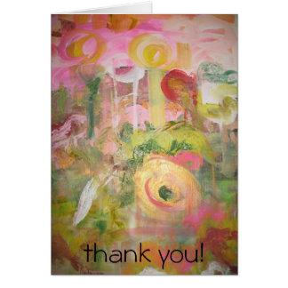Jardín de flores tarjeta de felicitación