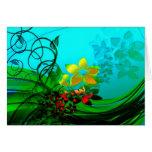 jardín de flores tarjetón