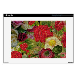 Jardín de flores texturizado portátil calcomanía