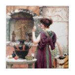 Jardín de Godward de la mujer de Pompeya Teja Ceramica