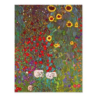 """Jardín de Gustavo Klimt con las invitaciones de Invitación 4.25"""" X 5.5"""""""