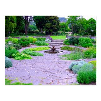 Jardín de hierbas circular con la fuente, Dunedin, Tarjeta Postal