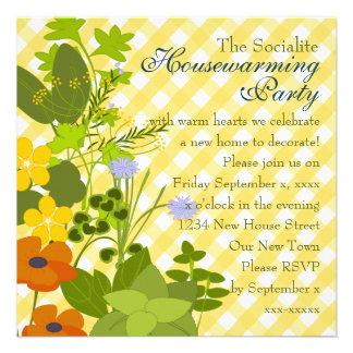 Jardín de hierbas invitacion personalizada