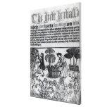 Jardín de hierbas medieval impresión en lona